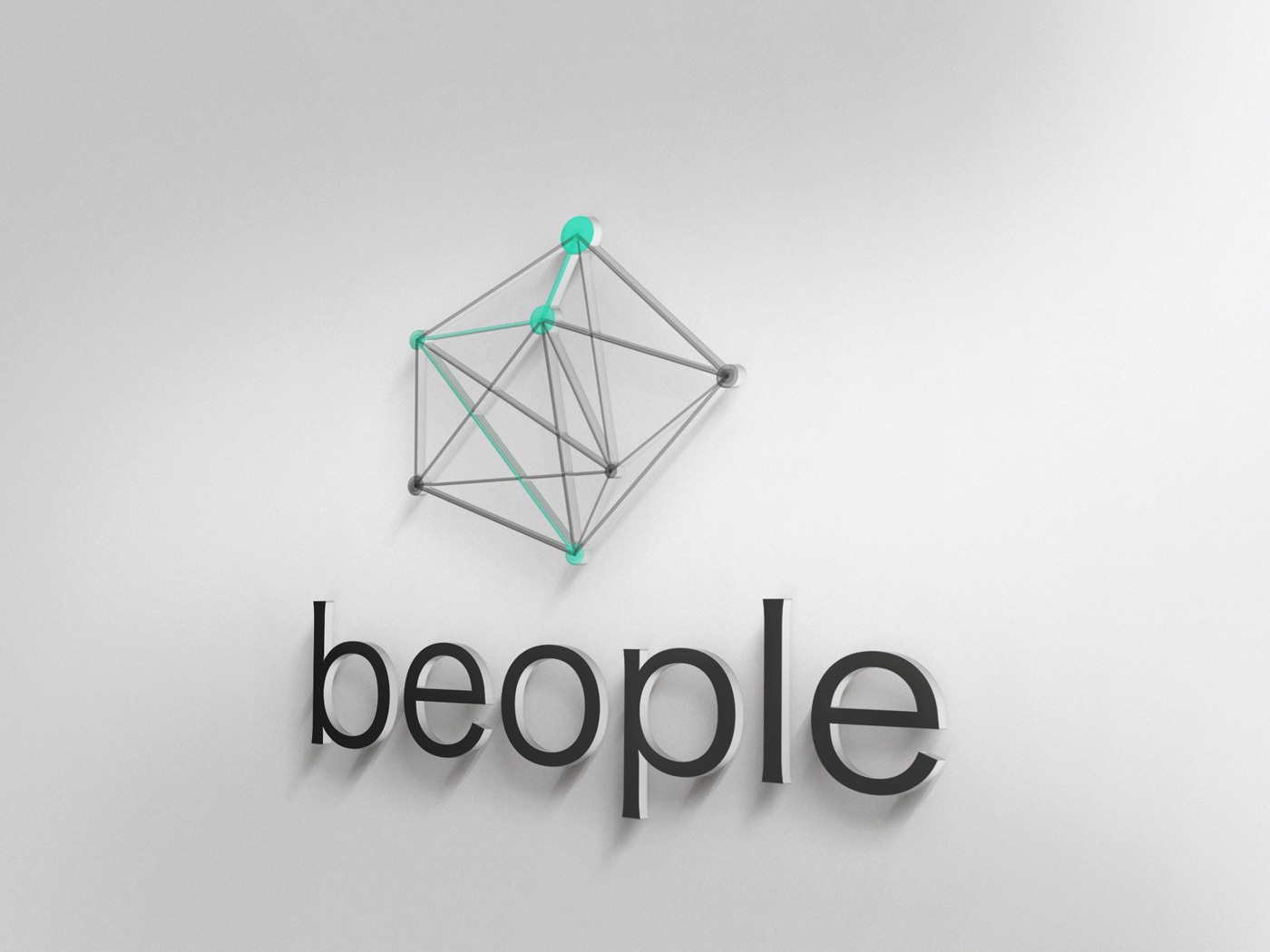 logo beople green